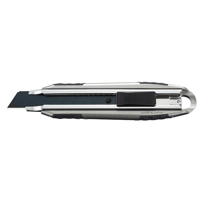 Couteau Olfa à lame auto-bloquante, aluminium, 18 mm