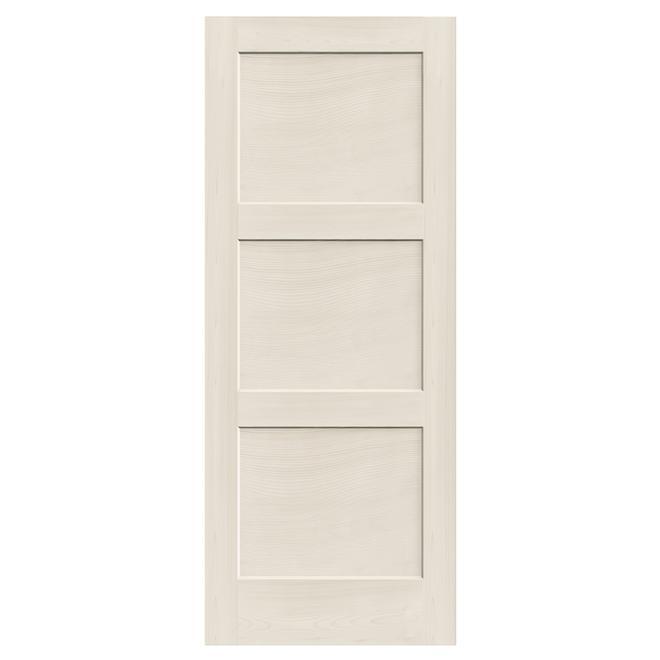 Porte intérieure à 3 panneaux « Shaker » 30 po