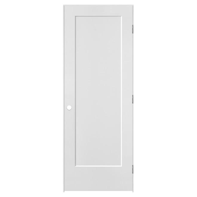 Prehung Moulded 1-Panel Lincoln Park Door - Left - Primed MDF - 32 in x 80 in x 1 3/8 in