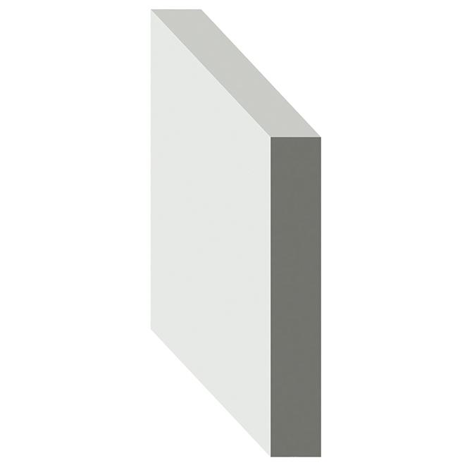 "Moulure B4F apprêtée, 23/32"" x 1 1/2"" x 8', LVL, blanc"