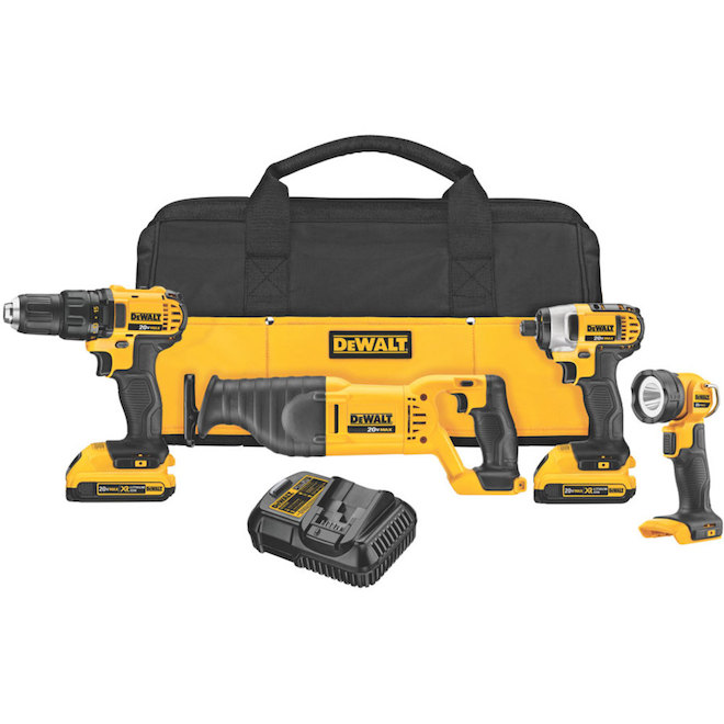 Ensemble 4 outils sans fil, lithium-ion 20V max,