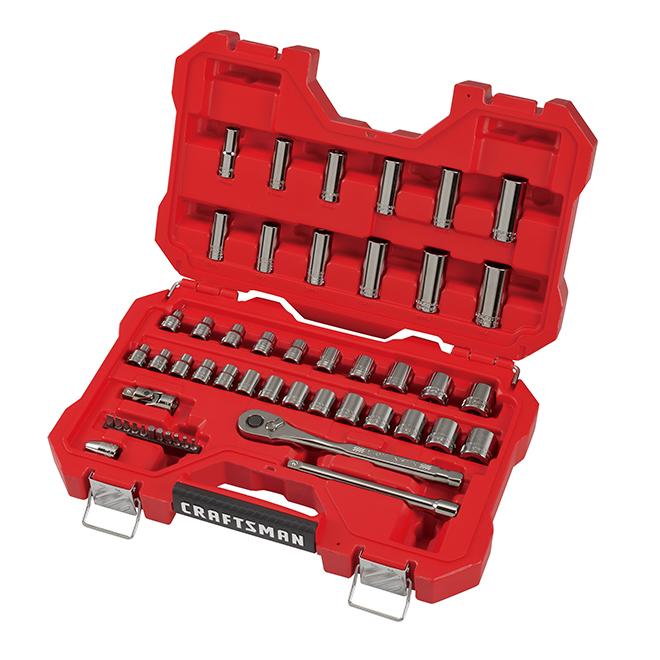 Ensemble d'outils pour mécanicien Crafsman, acier, 51 pièces