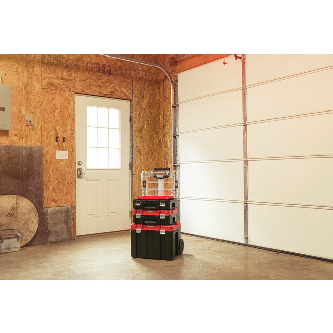 Portable Storage Tower - 3 Boxes - Red and Black