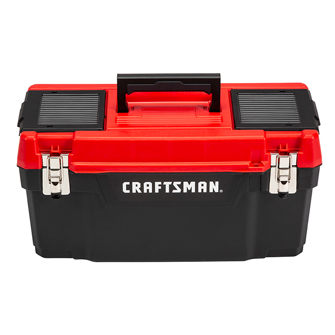 "Plastic Tool Box - 20"" - Red and Black"