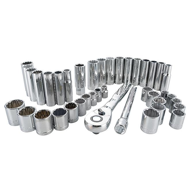 """Ensemble d'outils pour mécanicien, 3/8"""", 40 pièces"""