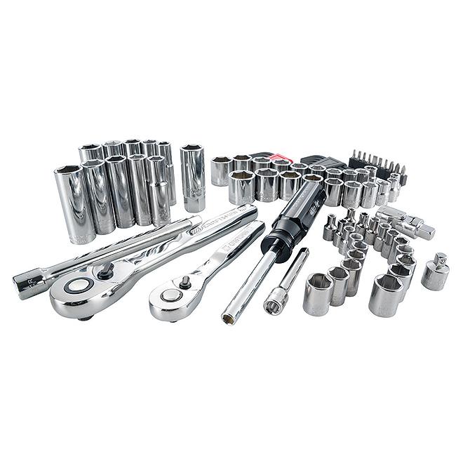 "Mechanic Tool Set - 1/4""and 3/8"" - 83 Pieces"