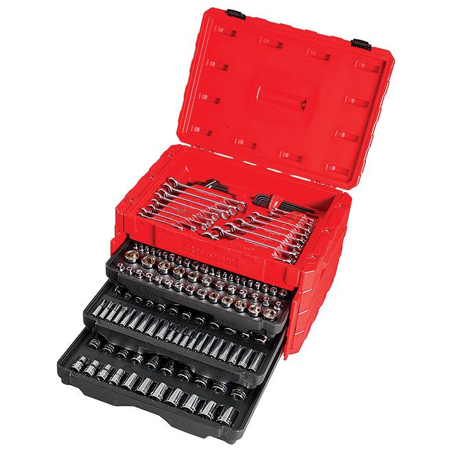 Mechanic Tool Set - 3 Drives - 222 Pieces