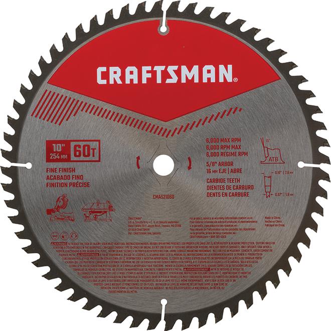 """Circular Saw Blade - Carbide - 10"""" - 60 TH"""