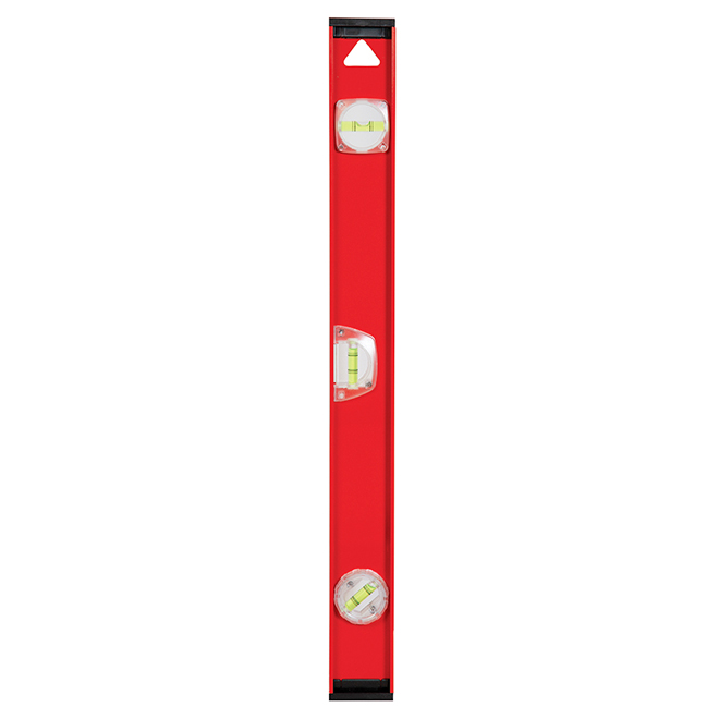 "I-Beam Level - 24"" - 360° Vials - Aluminum - Red and Black"