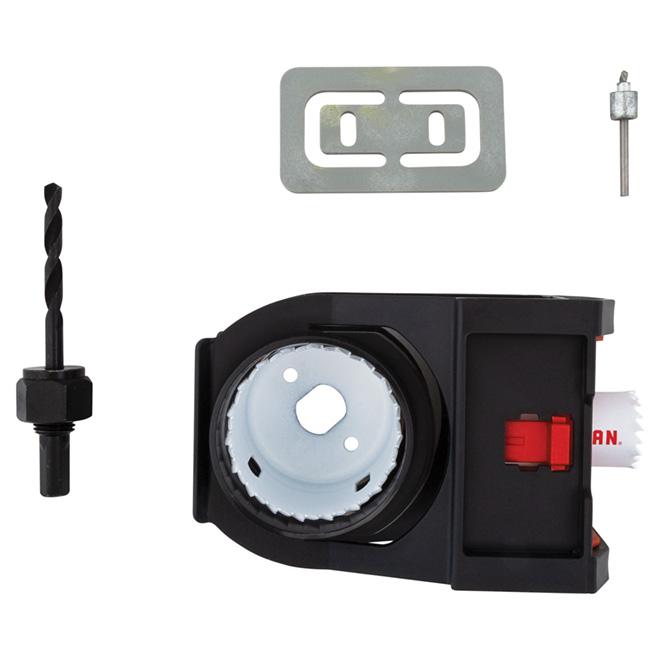 Door Lock Installation Kit - Carbon Steel - 7/Pack