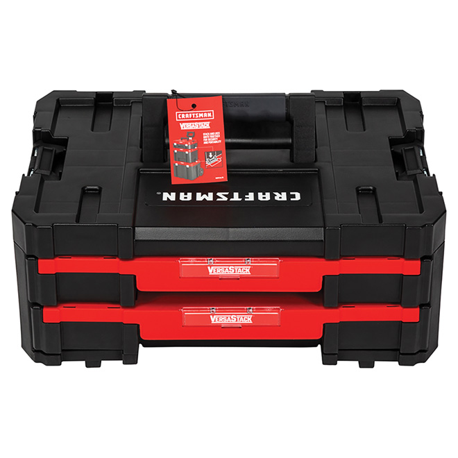 Double-Drawer Tool Unit - Black and Red