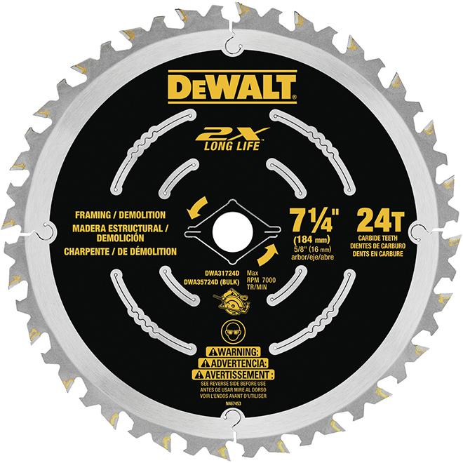 Dewalt Demolition Steel Blade - 7 1/4''