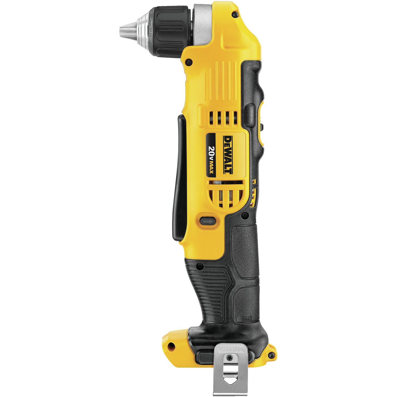 Dewalt Drill - 20 V - 3/8'' - Right Angle - Yellow/Black