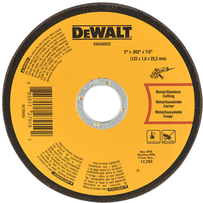 "DeWalt Cut-Off Wheel - Type 1 - 5"""