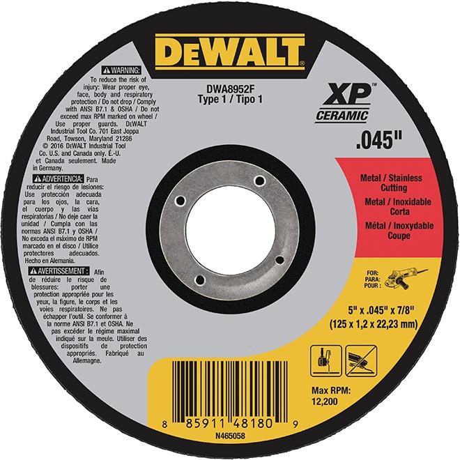"""Meule à tronçonner DeWalt, type 1 XP, 5"""""""