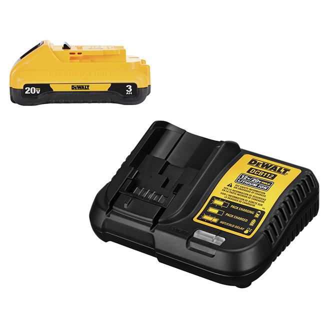 Dewalt 20 V MAX Battery and Charger Kit