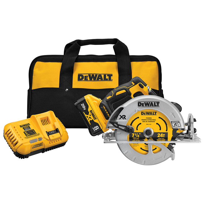 DeWalt Power Detect 20V Circular Saw Kit with Battery and Charger - 7.25-in
