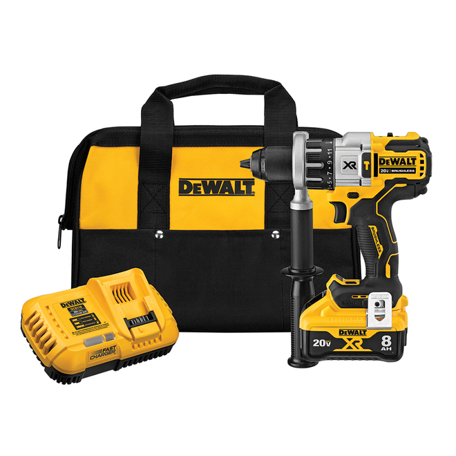 Dewalt Cordless Hammer Drill Power Detect with Brushless Motor - 0.5-in - 20V Max XR Lithium-Ion