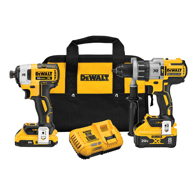 DeWalt Power Detect 2-Tool 20-Volt Max Brushless Power Tool Combo Kit with Soft Case, Charger and 2 Batteries