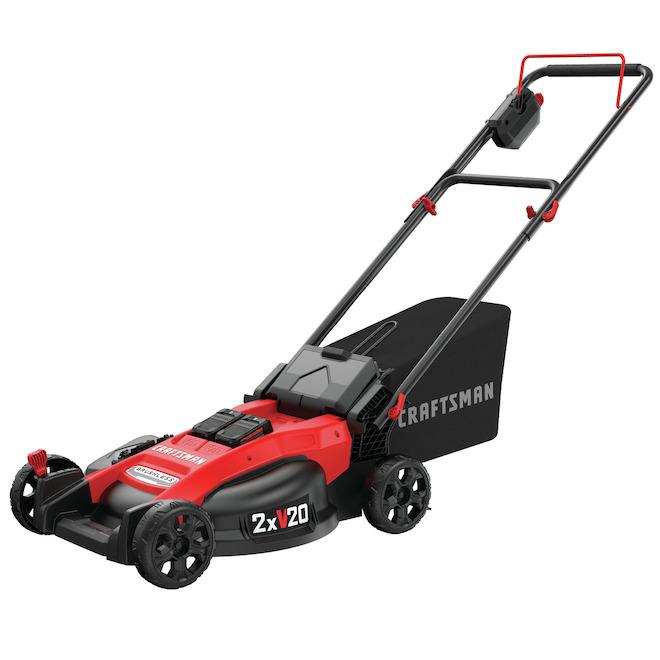 Craftsman Cordless Push Lawn Mower - Brushless Motor - 2 x 20 V - 20-in Deck