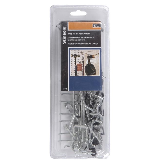 Crochets à tenon pour panneau perforé