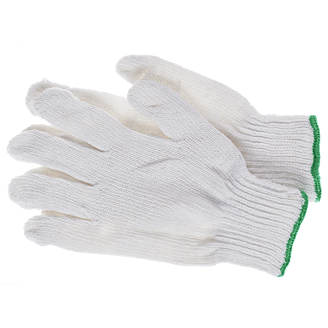 Gants de travail en tricot de coton, grand, paquet de 12