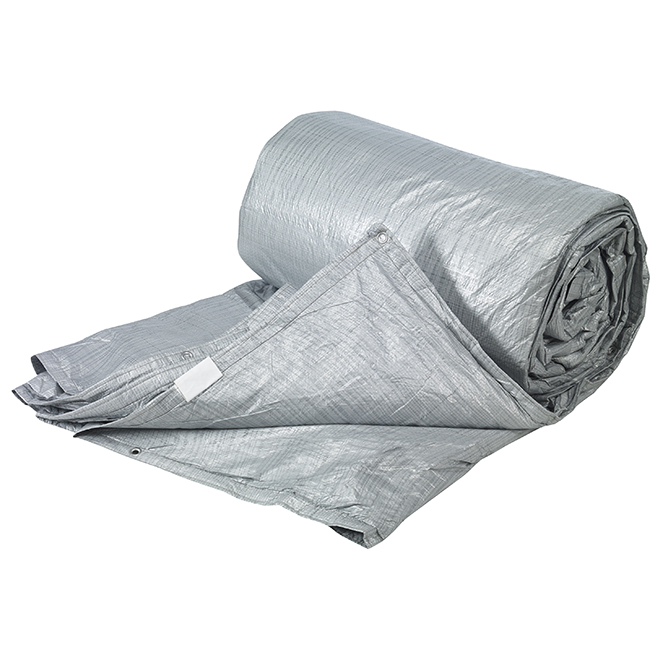 Polyethylene Tarpaulin - 4-Layer - 12' x 20' - Silver