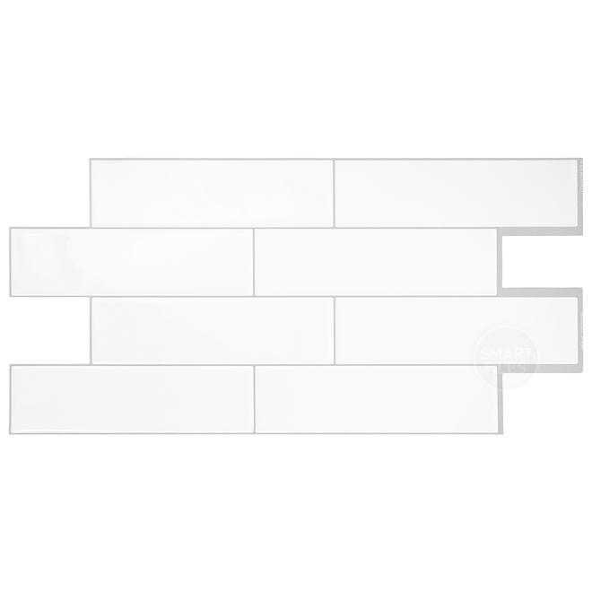 Oslo Adhesive Wall-Tile - 2.88 sq. ft. - 2/Box - White