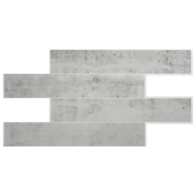 Norway Adhesive Wall-Tile - 2.68 sq. ft. - 2/Box - Light Grey