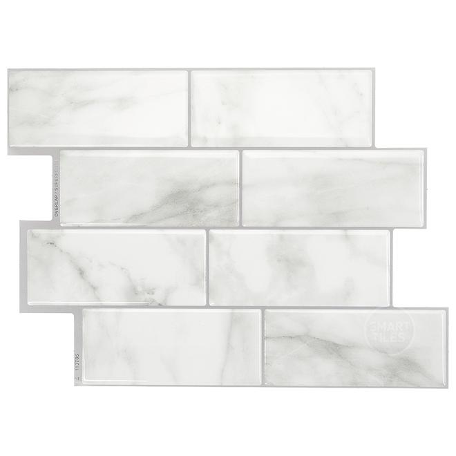 Smart tiles Adhesive Wall-Tile - 11.56'' x 8.38'' - Grey
