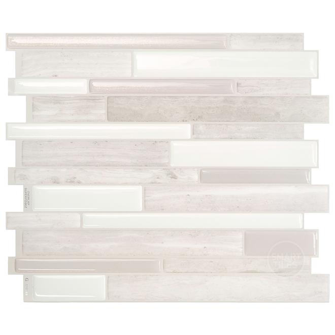 Smart tiles Adhesive Wall-Tile - 11.55'' x 9.63'' - Taupe