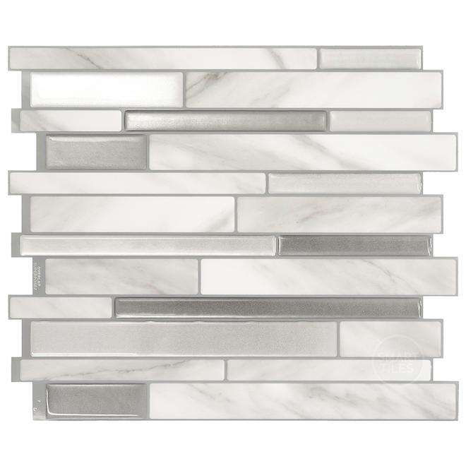 """Mosaique adhésive Smart tiles, 11,55"""" x 9,63"""", gris"""