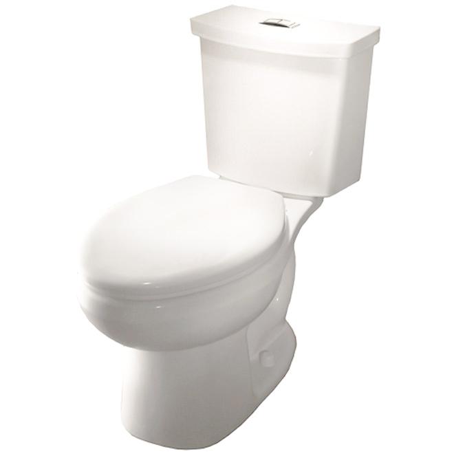 Elongated Front 2-Piece Toilet, 3,8 L/6 L, White