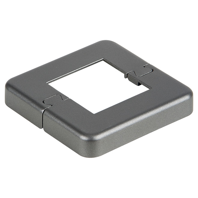 "Base Plate Cover for 2 1/4"" Post - 7.5'' x 5.9'' - Titanium Grey"