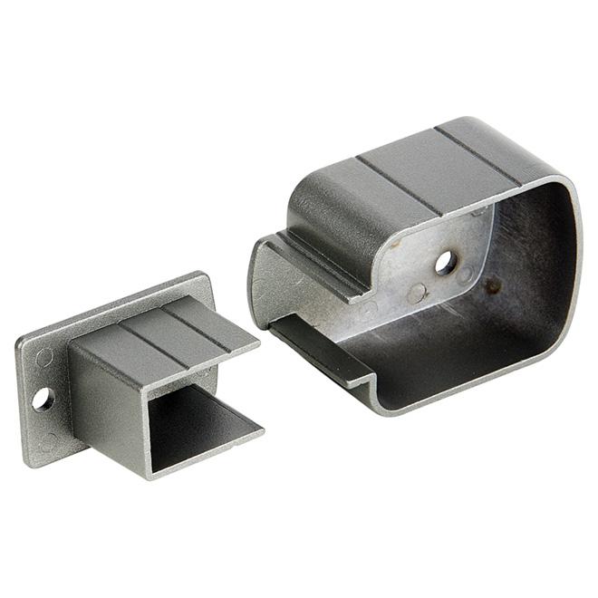 Supports de fixation pour poteau, 7'', aluminium, gris titane
