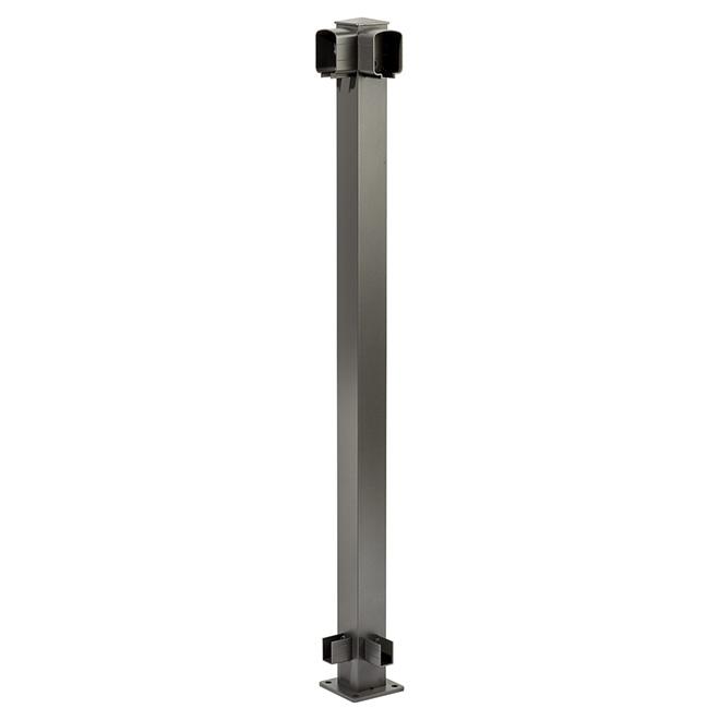 Railing Corner Post - 4'' x 4'' x 42'' - Titanium Grey
