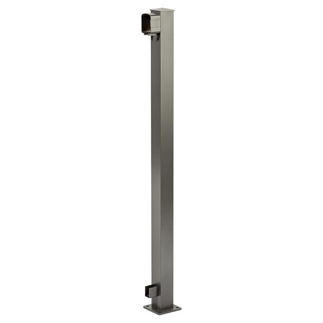 Railing End Post - 4'' x 4'' x 42'' - Titanium Grey