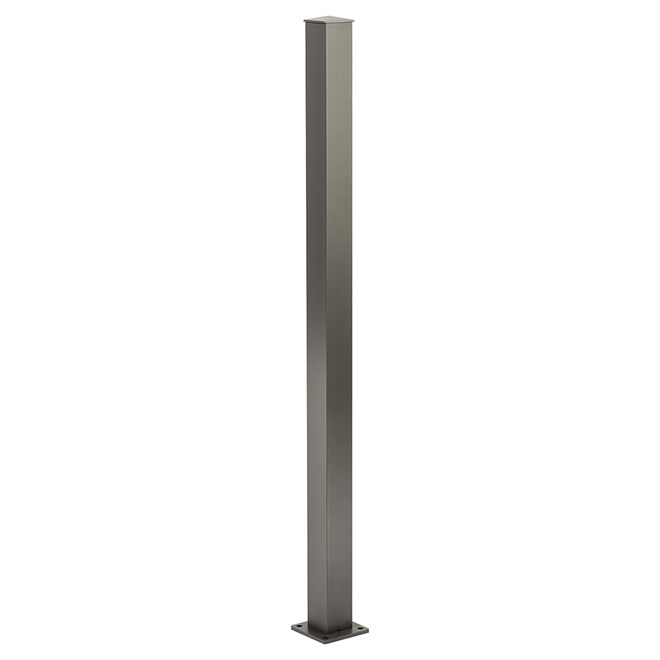 Railing Stair Post - 4'' x 4'' x 42'' - Titanium Grey