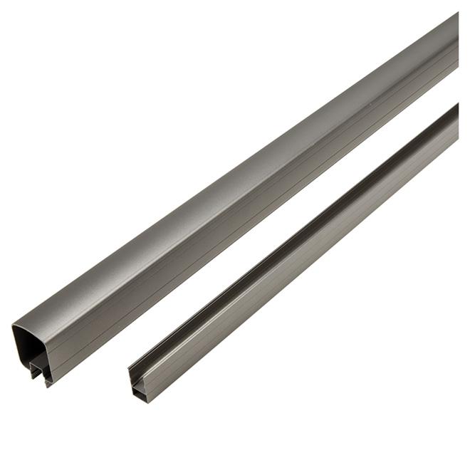Top and Bottom Rails - 8' - Aluminum - Titanium Grey
