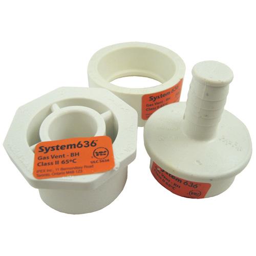 """Ensemble drainage de condensation 1 1/2"""" x 2"""" en PVC"""