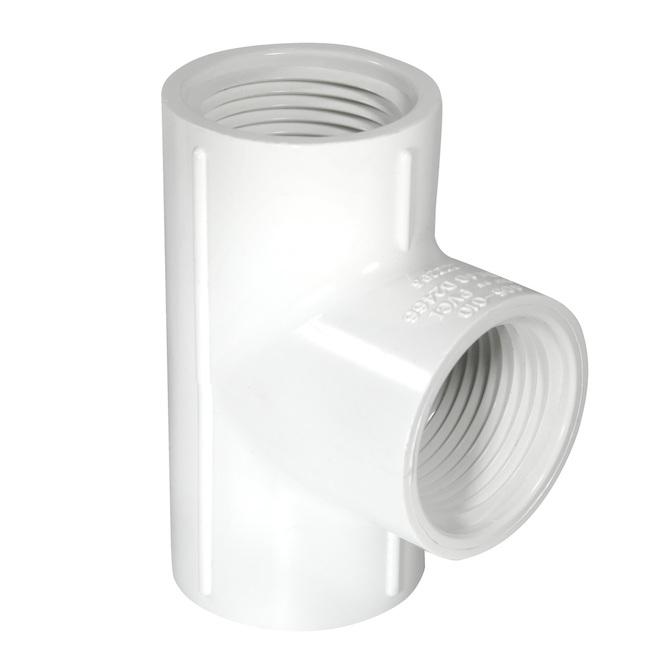 «T» en PVC 1-1/2 po