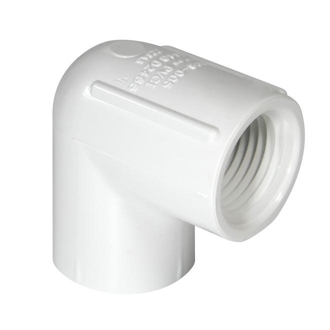 Coude fileté en PVC 2 po