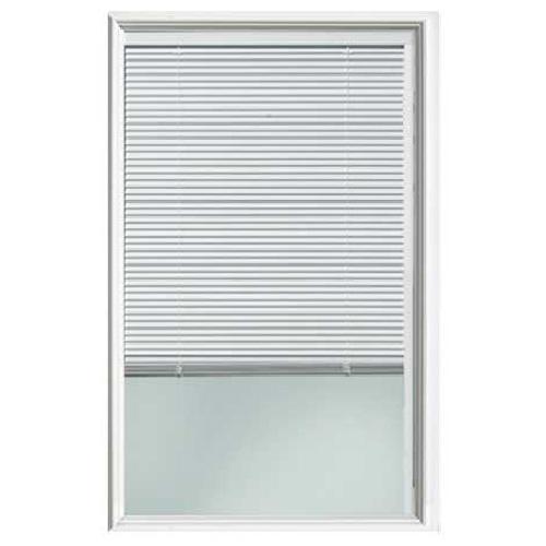 Exterior Door Window Insert with Blind - 22'' x 36'' - White