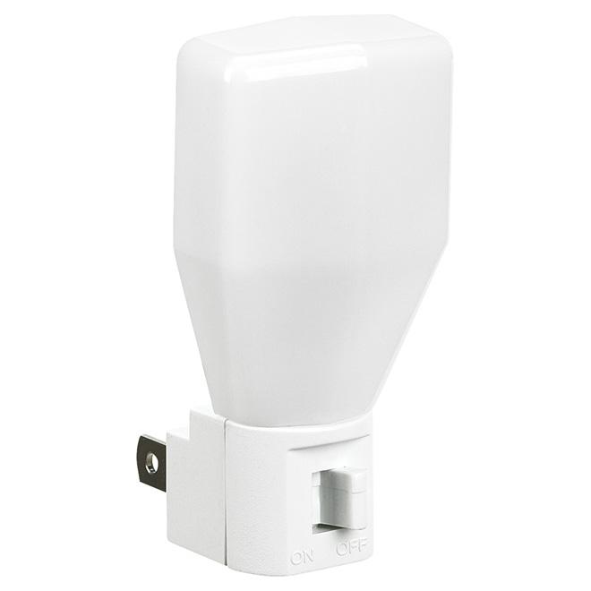 Veilleuses avec interrupteur, 7 W, blanc