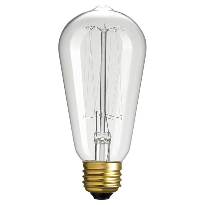 Ampoule vintage Edison S60, 40 W, blanc doux, 1/pqt