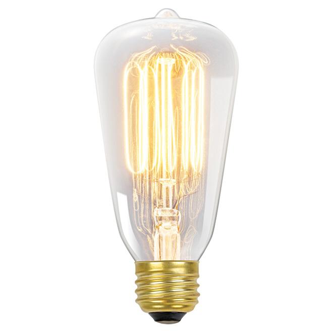 Ampoule incandescente à filaments, S60, E26, 60 W, pqt de 4