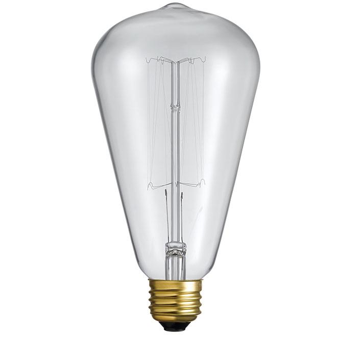 Ampoule Edison S85, intensité variable, 60 W, blanc doux