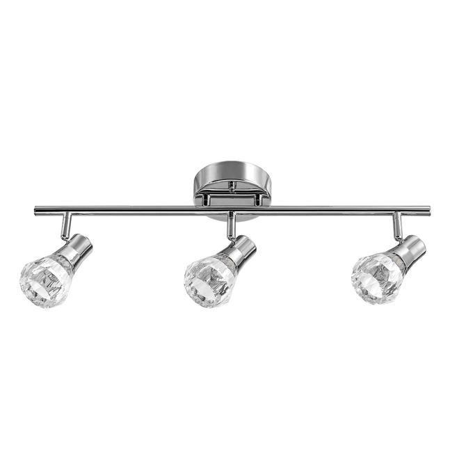 """Luminaire sur rail Mia, 3 lumières, DEL, 23,8"""" x 6,76"""", chrome"""