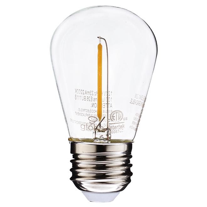 Ampoule DEL A19 1,2 W, intensité non variable, transparente