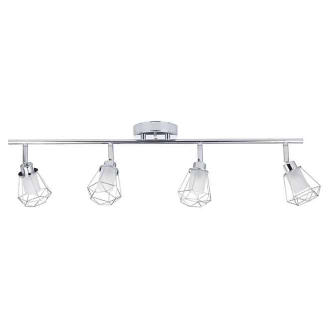 Rail d'éclairage 4 lumières,  19,5 x 17'' x 31,5'' chrome